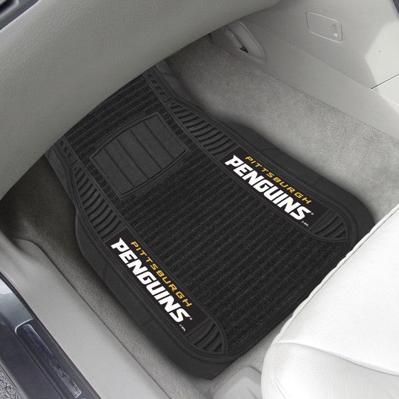 "NHL - Pittsburgh Penguins Deluxe Car Mat Set 21"" x 27"""