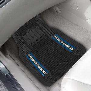 "NHL - Vancouver Canucks Deluxe Car Mat Set 21"" x 27"""