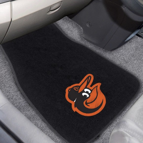MLB - Baltimore Orioles 2-Piece Embroidered Car Mat Set