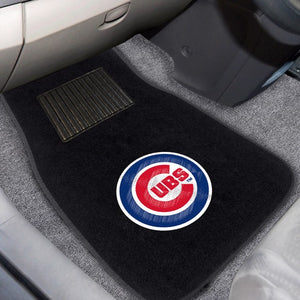 "MLB - Chicago Cubs Embroidered Car Mat Set 17"" x 25.5"""
