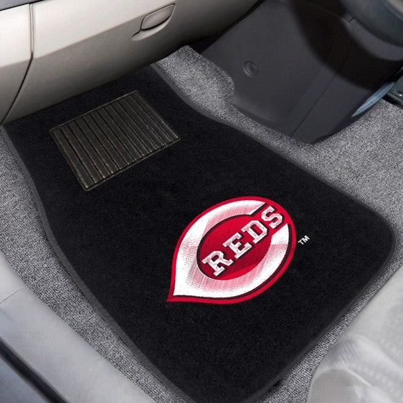 "MLB - Cincinnati Reds Embroidered Car Mat Set 17"" x 25.5"""