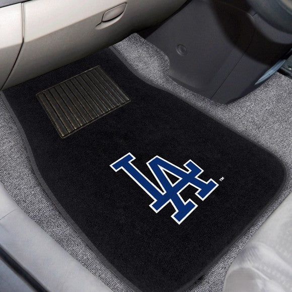 "MLB - Los Angeles Dodgers Embroidered Car Mat Set 17"" x 25.5"""