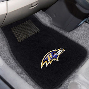 "NFL - Baltimore Ravens Embroidered Car Mat Set 17"" x 25.5"""
