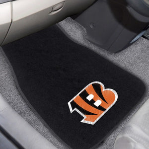 "NFL - Cincinnati Bengals Embroidered Car Mat Set 17"" x 25.5"""