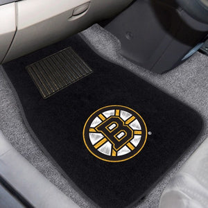 "NHL - Boston Bruins Embroidered Car Mat Set 17"" x 25.5"""