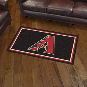 MLB - Arizona Diamondbacks 3'x5' Plush Rug 3' x 5'