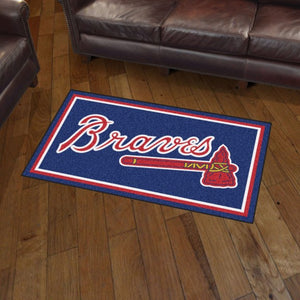 MLB - Atlanta Braves 3'x5' Plush Rug 3' x 5'