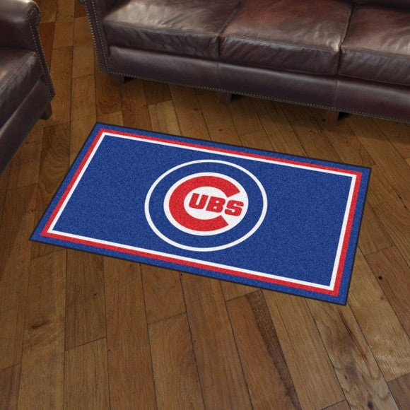 MLB - Chicago Cubs 3'x5' Plush Rug 3' x 5'