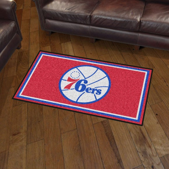 NBA - Philadelphia 76ers 3'x5' Plush Rug 3' x 5'