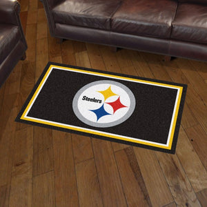 NFL - Pittsburgh Steelers 3'x5' Plush Rug 3' x 5'