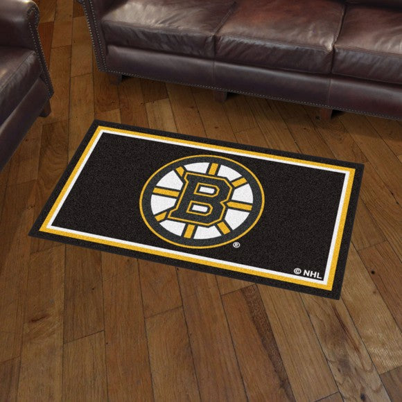 NHL - Boston Bruins 3'x5' Plush Rug 3' x 5'