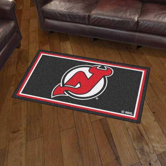 NHL - New Jersey Devils 3'x5' Plush Rug 3' x 5'