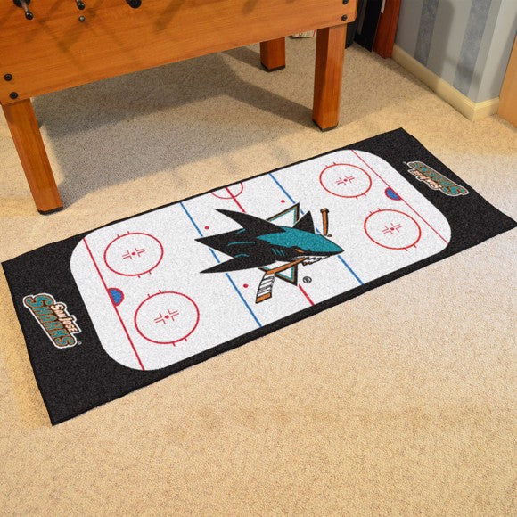 "NHL - San Jose Sharks Rink Runner 30"" x 72"""