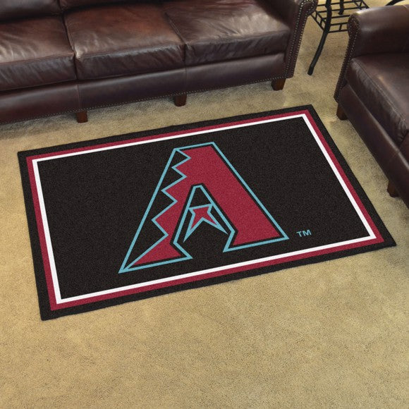 MLB - Arizona Diamondbacks 4'x6' Plush Rug 44