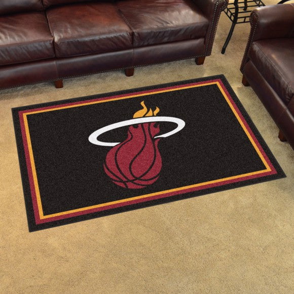 "NBA - Miami Heat 4'x6' Plush Rug 44"" x 71"""