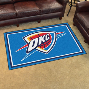 "NBA - Oklahoma City Thunder 4'x6' Plush Rug 44"" x 71"""