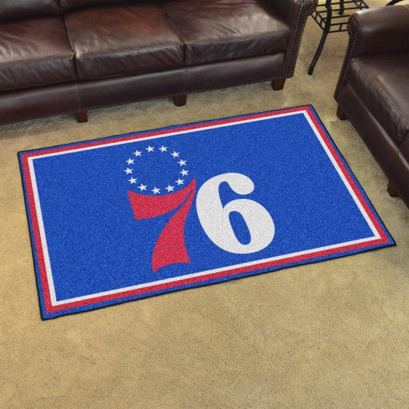 "NBA - Philadelphia 76ers 4'x6' Plush Rug 44"" x 71"""