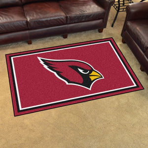 "NFL - Arizona Cardinals 4'x6' Plush Rug 44"" x 71"""