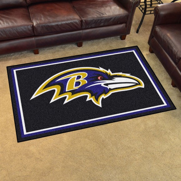 NFL - Baltimore Ravens 4'x6' Plush Rug 44
