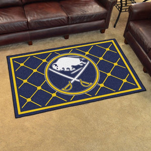 "NHL - Buffalo Sabres 4'x6' Plush Rug 44"" x 71"""