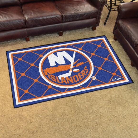 "NHL - New York Islanders 4'x6' Plush Rug 44"" x 71"""