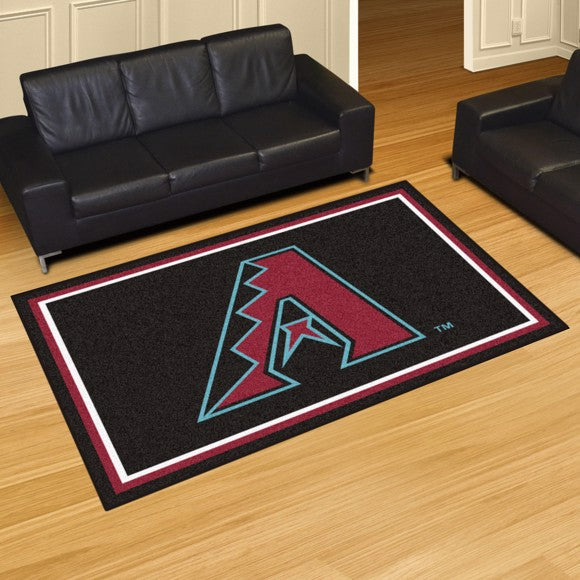 MLB - Arizona Diamondbacks 5'x8' Plush Rug 59.5
