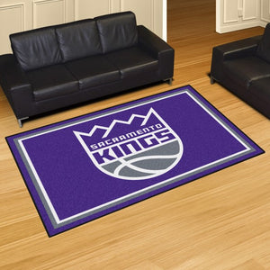 "NBA - Sacramento Kings 5'x8' Plush Rug 59.5"" x 88"""