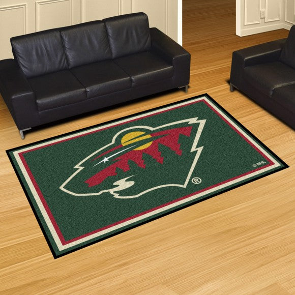 NHL - Minnesota Wild 5'x8' Plush Rug 59.5