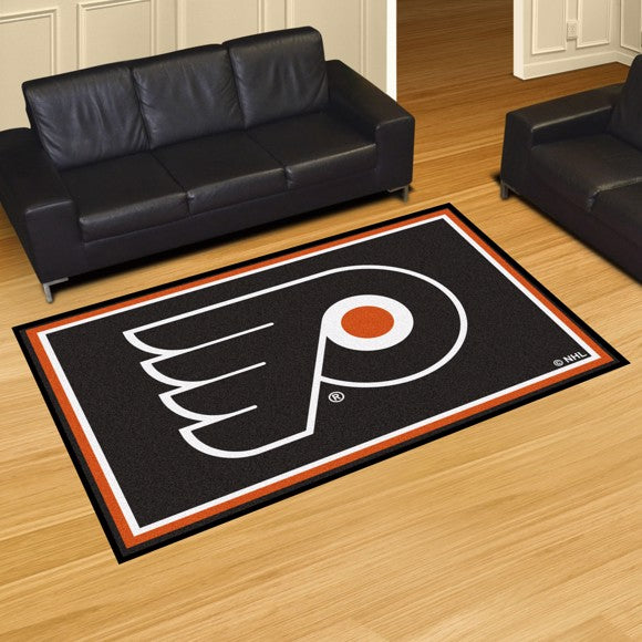 NHL - Philadelphia Flyers 5'x8' Plush Rug 59.5