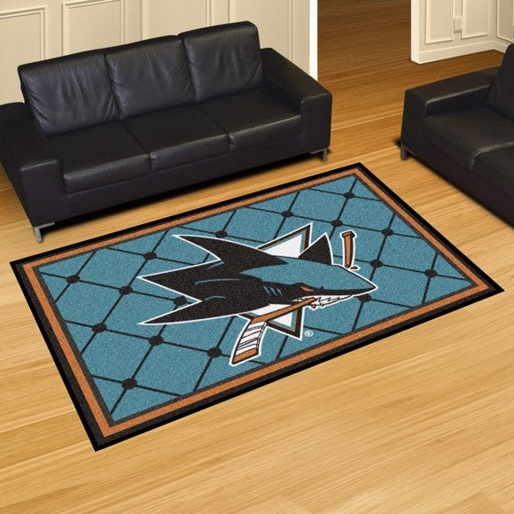 NHL - San Jose Sharks 5'x8' Plush Rug 59.5