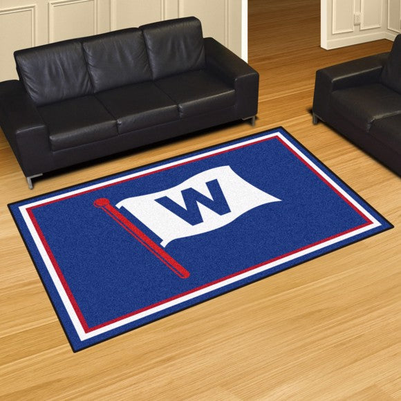 "MLB - Chicago Cubs 8'x10' Plush Rug 87"" x 117"""