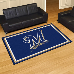 "MLB - Milwaukee Brewers 8'x10' Plush Rug 87"" x 117"""