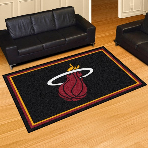 "NBA - Miami Heat 8'x10' Plush Rug 87"" x 117"""