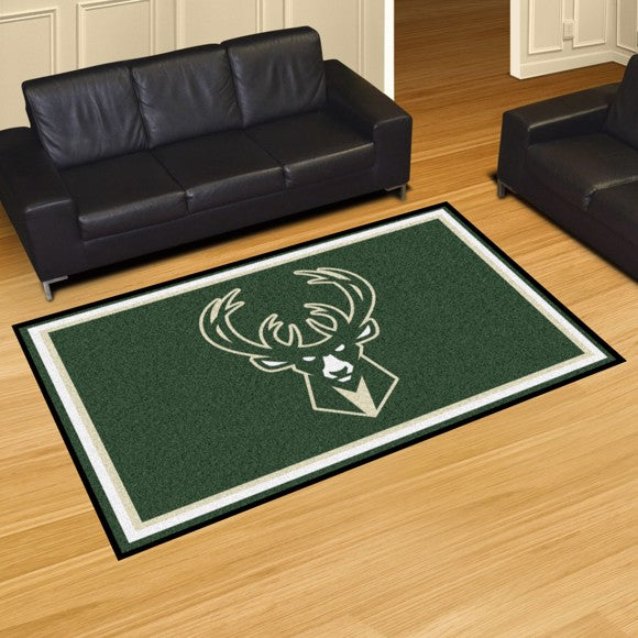 NBA - Milwaukee Bucks 8'x10' Plush Rug 87