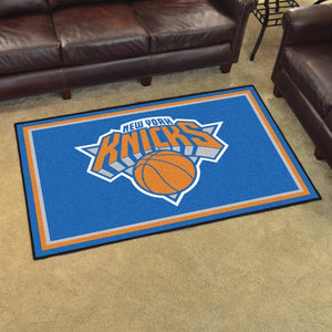 "NBA - New York Knicks 8'x10' Plush Rug 87"" x 117"""
