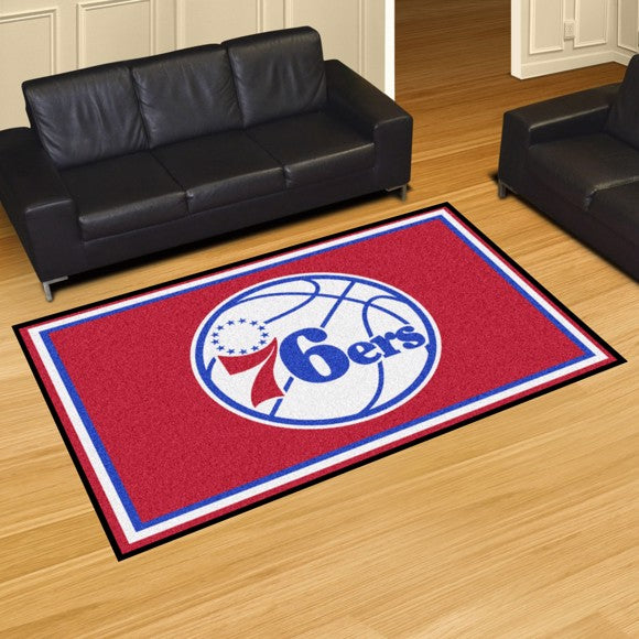 "NBA - Philadelphia 76ers 8'x10' Plush Rug 87"" x 117"""