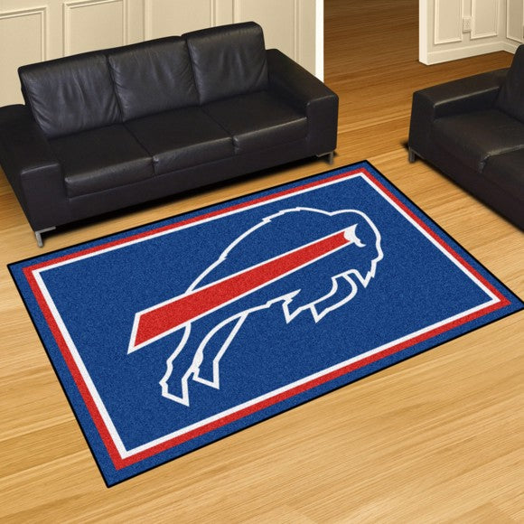 "NFL - Buffalo Bills 8'x10' Plush Rug 87"" x 117"""
