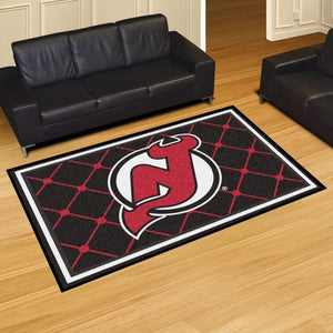 "NHL - New Jersey Devils 8'x10' Plush Rug 87"" x 117"""