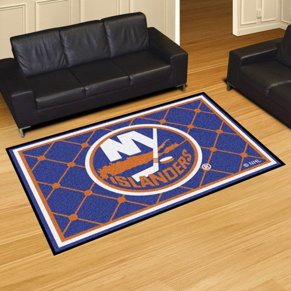 "NHL - New York Islanders 8'x10' Plush Rug 87"" x 117"""