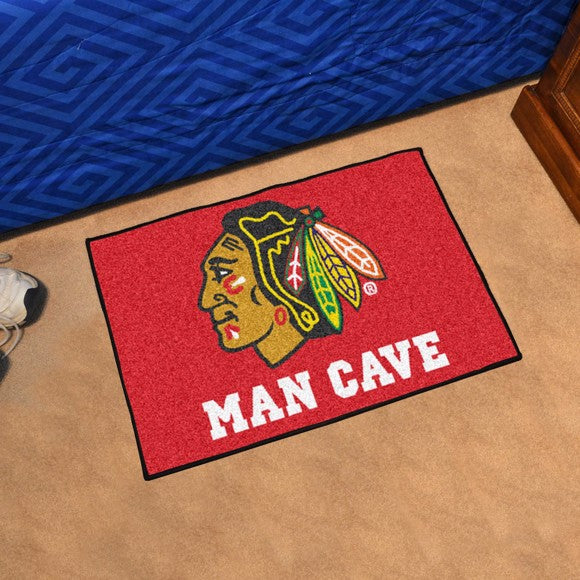"NHL - Chicago Blackhawks Man Cave Starter 19"" x 30"""