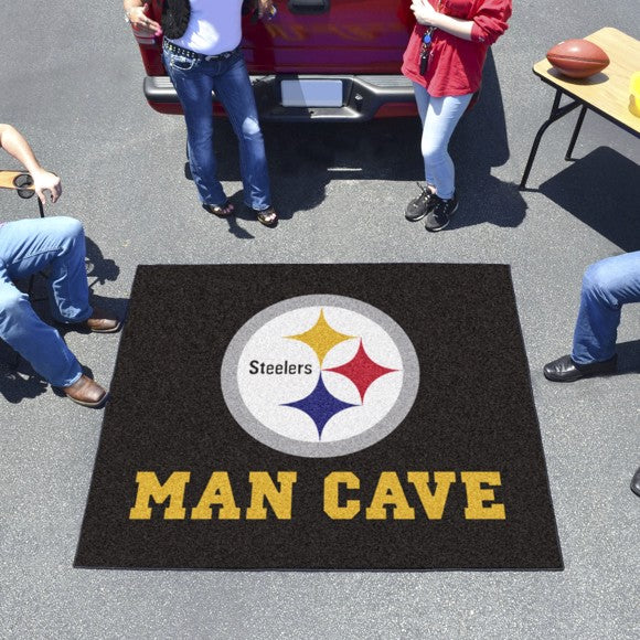 "NFL - Pittsburgh Steelers Man Cave Tailgater 59.5"" x 71"""