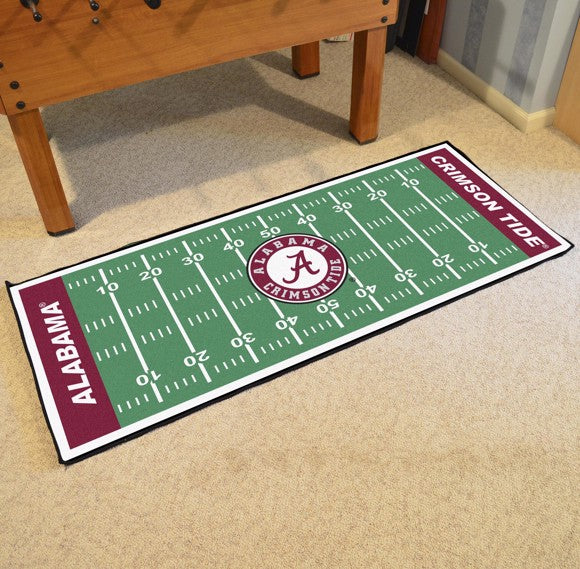 "Alabama Football Field Runner 30"" x 72"""