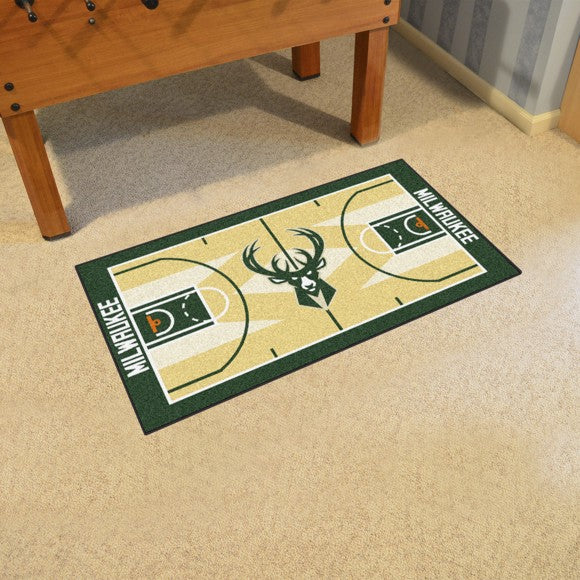 NBA - Milwaukee Bucks NBA Court Large Runner 29.5