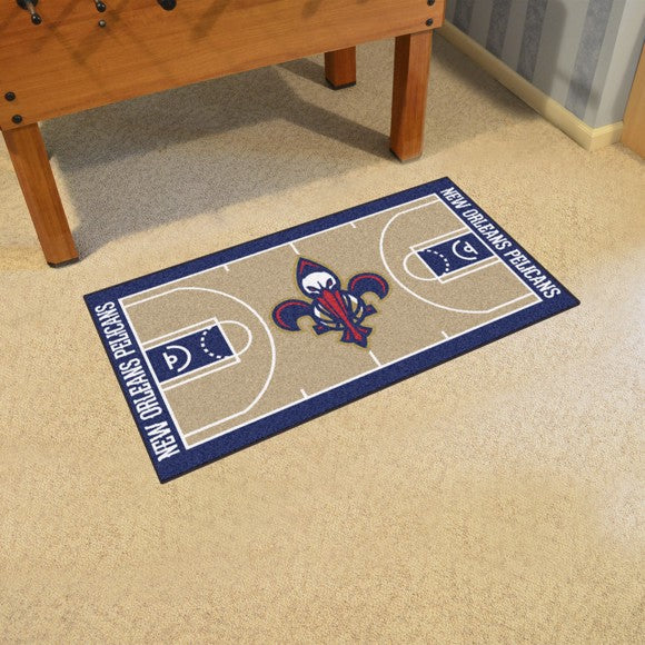 NBA - New Orleans Pelicans NBA Court Large Runner 29.5