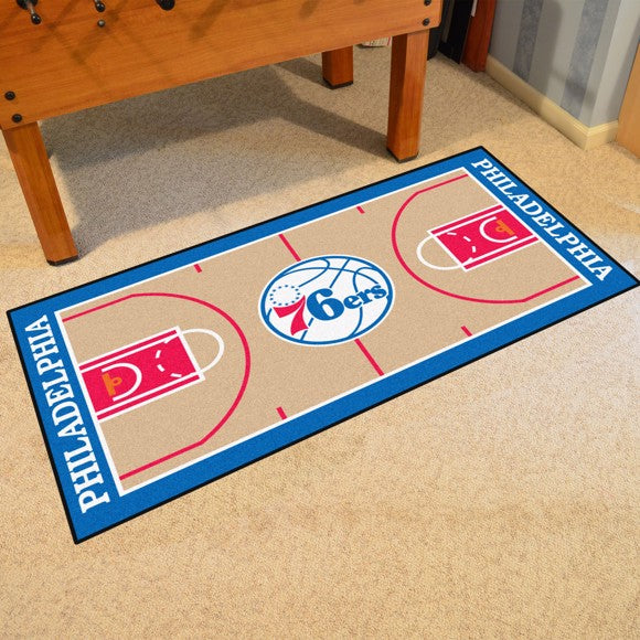 "NBA - Philadelphia 76ers NBA Court Runner 24"" x 44"""