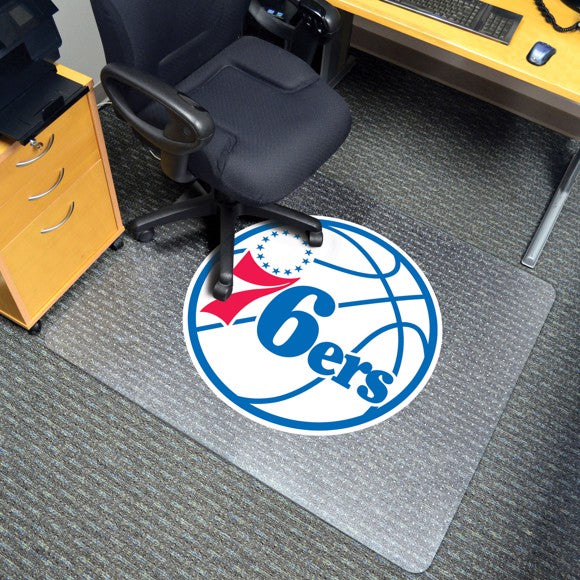 "NBA - Philadelphia 76ers Chair Mat 45"" x 53"""