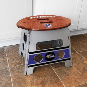 "NFL - Baltimore Ravens Folding Step Stool 14"" x 13"""
