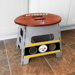 "NFL - Pittsburgh Steelers Folding Step Stool 14"" x 13"""