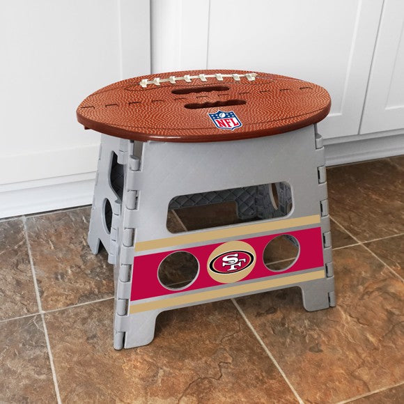 "NFL - San Francisco 49ers Folding Step Stool 14"" x 13"""