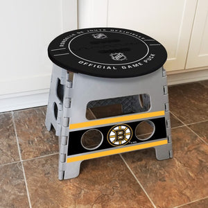 "NHL - Boston Bruins Folding Step Stool 14"" x 13"""